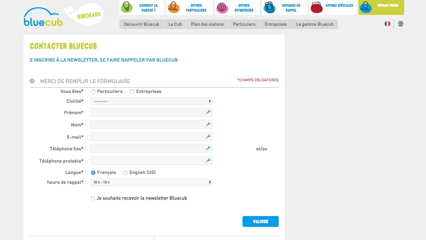 Blueclub comment contacter la plateforme de location de voitures lectrique - Comment contacter l afub ...