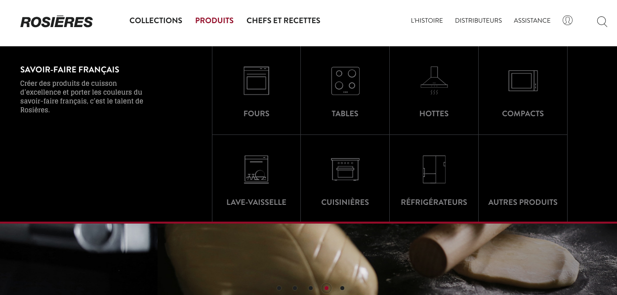 Capture site internet Rosieres